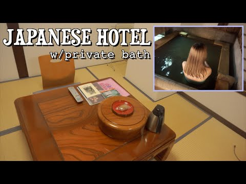 TRADITIONAL JAPANESE HOTEL ROOM TOUR w/ Private Onsen [Ebisuya Ryokan]