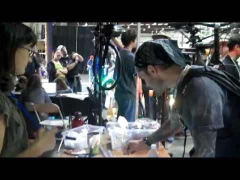 Digital Light Art Monkeylectric at Maker Fair Booth