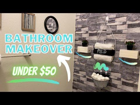 bathroom-makeover-on-a-budget-2020-|-budget-friendly|-dollar-tree-edition