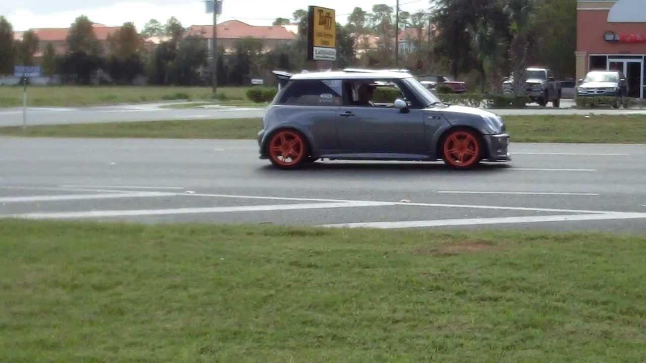 Twin Turbo Mini Cooper >> Twin Turbo Mini Cooper S 400hp S14 SR20 acceleration on street 1080p - YouTube