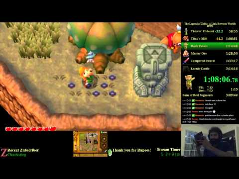 The Legend of Zelda: A Link Between Worlds 100% Speedrun (3:08:42)