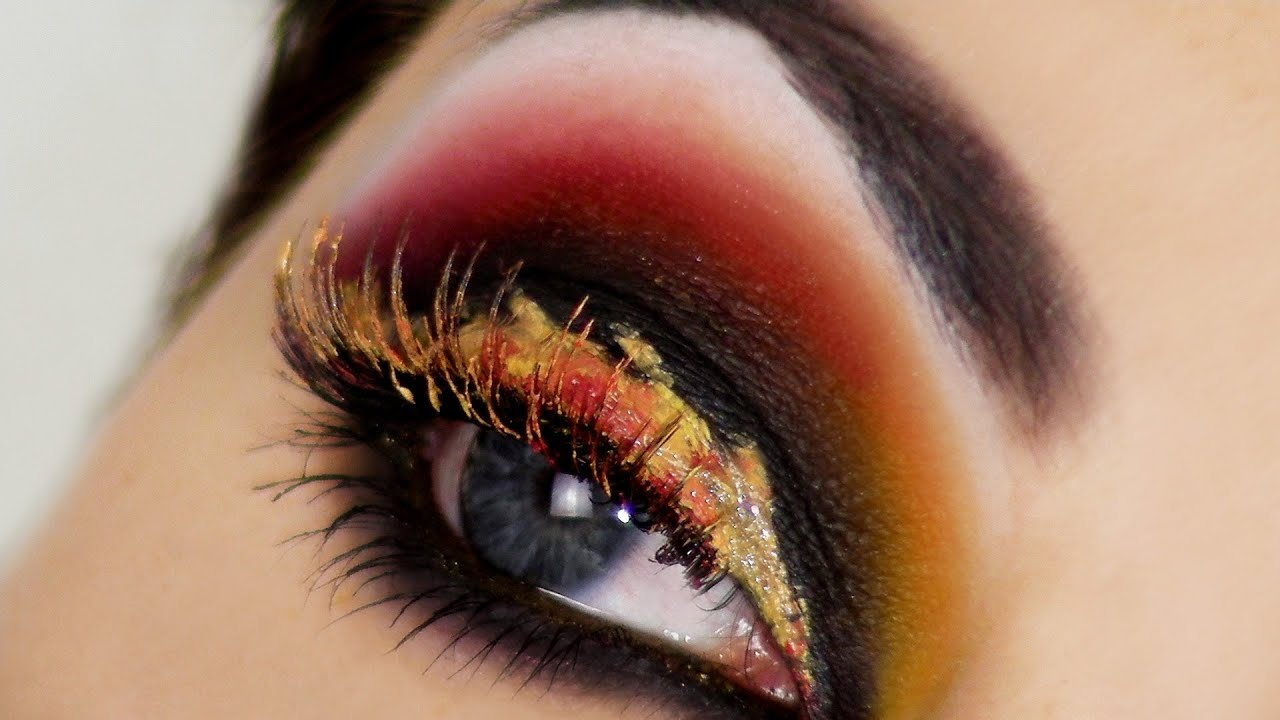 Eyes Fire Hunger Games Catching Inspired Makeup