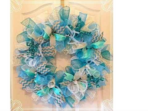 Decoracion arbol de navidad azul y plateado