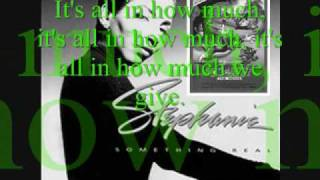 All In How Much We Give- Stephanie Mills Lyrics