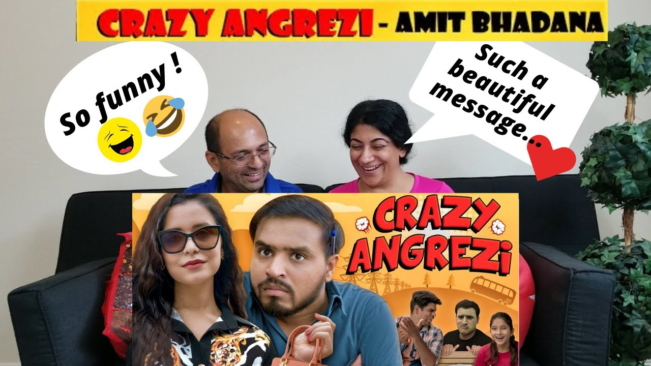 Crazy Angrezi | Amit Bhadana | Amazing Reaction by | Indian American Vlogger ???