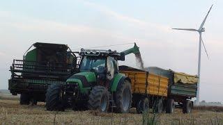 Żniwa 2015   Deutz-Fahr M35.75    Deutz-Fahr 610 Agrotron   