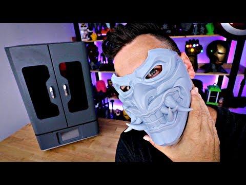 3D Printed Resin Mask - Phrozen Transform - Redhood Oni / CyberPunk 2077 Mask