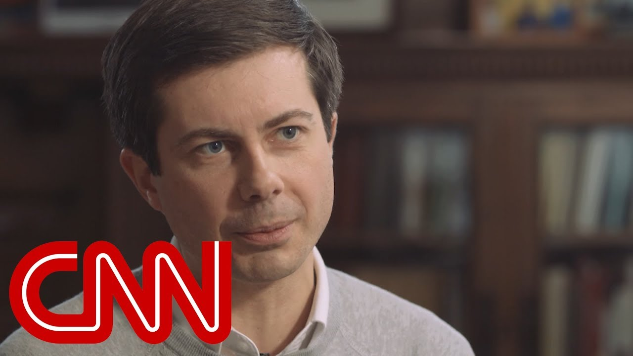 Image result for images of Pete Buttigieg and cnn