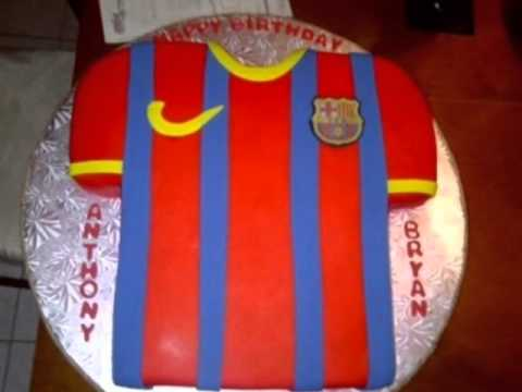 Happy Birthday Song Football Jerseys Cakes in background YouTube