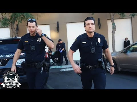SDPD Officer Smacks Phone Out of Woman's Hand Pulls Taser | Submitted