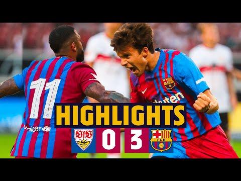 HIGHLIGHTS | VFB Stuttgart 0-3 Barça (MEMPHIS, YUSUF DEMIR & RIQUI PUIG SCORE)