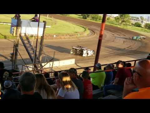 6-3-18 Dawson County Raceway NeSmith Late Model Heat Race Cory Dumpert