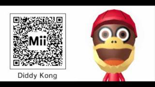 Nintendo 3DS Mii QR Codes Pack 7 - People, Animals, and Game Characters