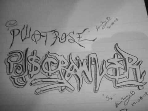 Graffitis lapiz y papel youtube - Graffitis en papel ...