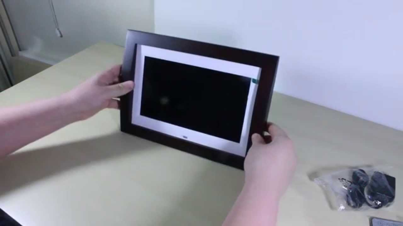 sylvania 10 digital picture frame unboxing