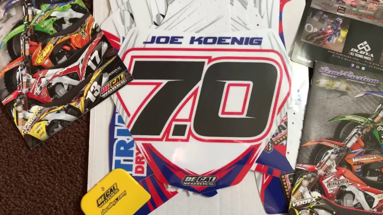 DeCal Works YZ Ice Racer Graphics Kit For Joe Koenig YouTube - Decal works graphicsdecal works camo graphics youtube