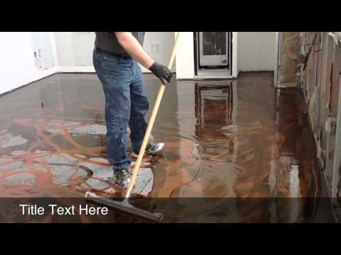 Designer Epoxy Installation Youtube