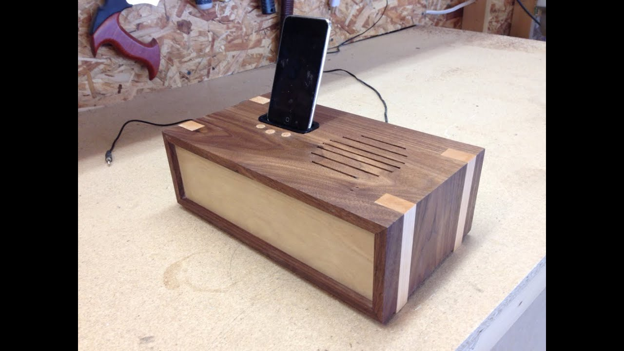 Woodworking project - docking station - YouTube