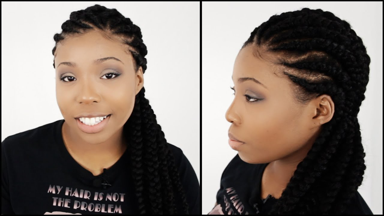 Diy Ghana Braids Tutorial Start To Finish Youtube