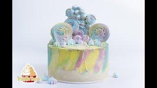 видео Вафельный торт с меренгами