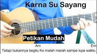 (Petikan) Karna Su Sayang Belajar Gitar Untuk Pemula