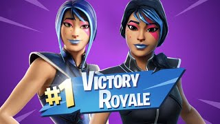 BACK-TO-BACK DUOS WINS WITH GIRLFRIEND'S COUSIN! SPARKLE SUPREME SKIN! - Fortnite Battle Royale
