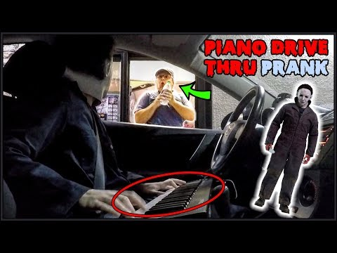 Michael Myers Plays Piano in Drive Thru Prank!!