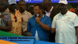 Hassan Omar HECKLED During NASA Rally in Mombasa. He Is REJECTED and Humiliated by His Nasa People