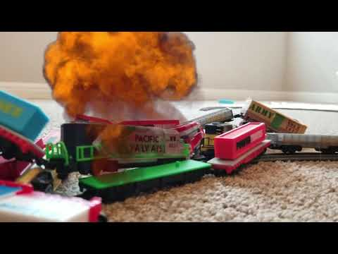 The great Power Trains Crash: Triple Destruction! New!!