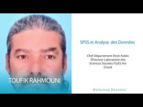 Workshop Doctoral Pr Rahmouni: Économétrie appliquée sous SPSS