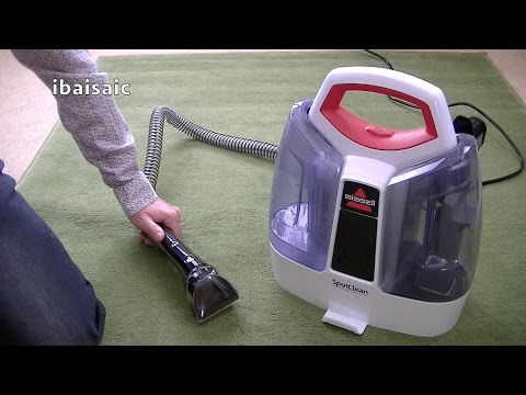 bissell-spotclean-portable-spot-cleaner-3698e-demonstration-&-review