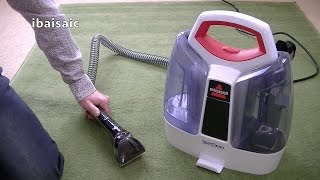 bissell spotclean portable spot cleaner 3698e demonstration review