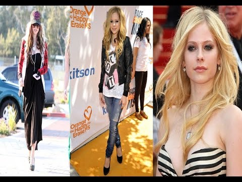 Avril Lavigne Casual Style And Hair Style -2016