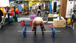 Толчок штанги 80 кг на раз 03 05 2016