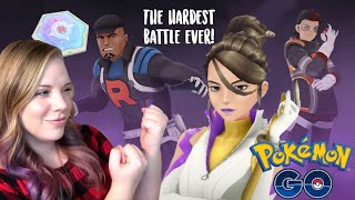 HARDEST BATTLE EVER! How to Battle Team Go Rocket Leaders in Pokemon Go! | Sierra