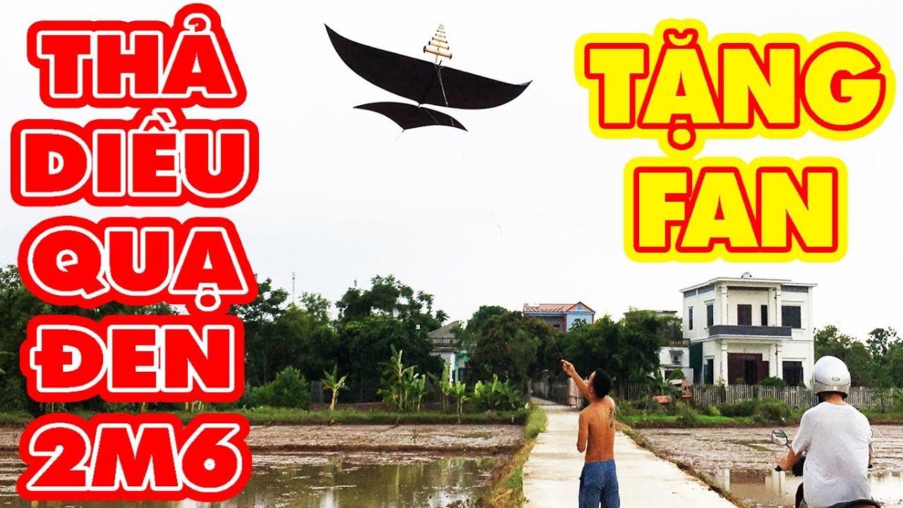Tặng Fan Hâm Mộ  Diều Quạ Đen 2m6 Cùng Bộ Chuông D38 Cực Chất | Fly a kites | Phuong PV
