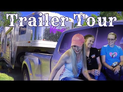 Peak inside Living Quarters Horse Trailer - NFR Qualifier Kellie Collier