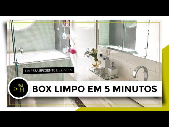 COMO LIMPAR O BOX DO BANHEIRO EM 5 MINUTOS!   OSF - Rafa Oliveira