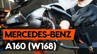 Fitting Poly v-belt MERCEDES-BENZ A-CLASS (W168): free video
