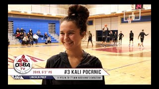 Lincoln Prep's 2019 PG Kali Pocrnic after thrilling 79-77 win over King's Christian