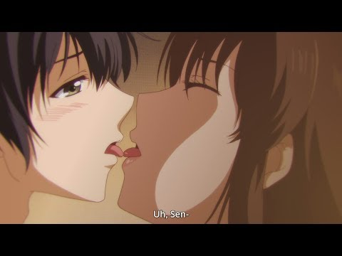 Romantic Anime Kiss Scene | Natsuo And Hina In Bed
