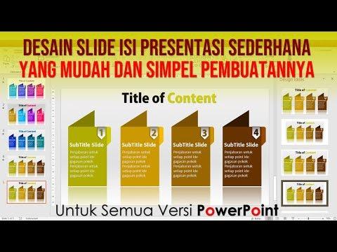 Slide Isi Presentasi PowerPoint Menarik dan Simpel