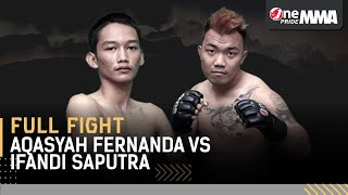 Nyali Baja! 🔥 Aqasyah Fernanda vs Ifandi Saputra || Full Fight One Pride MMA FN 37