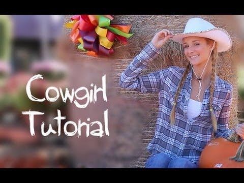 Cowgirl makeup hair halloween costume youtube solutioingenieria Gallery