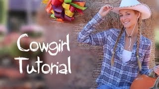 Cowgirl Makeup, Hair & Halloween Costume!