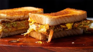 Egg & Cheese Toast Sandwich Recipe | Korean Street Food/Breakfast Toast