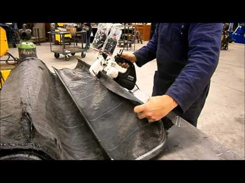 Repair transport mats, or canvas with a customized hand held sewing machine Union 2200 AS