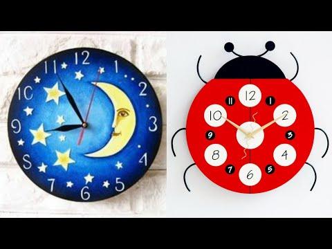 craft clock designs and ideas