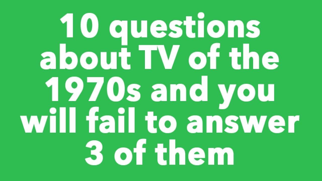 Quiz : TV of the 70s