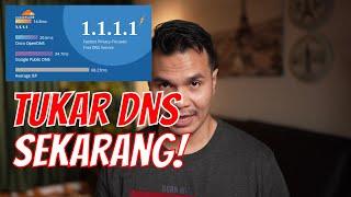 Tukar DNS Sekarang Untuk LAJUKAN Lagi INTERNET!